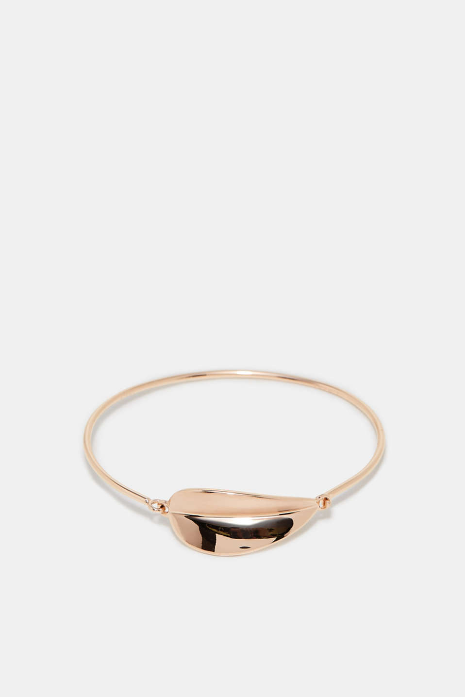 Esprit - Bangle with a leaf-shaped pendant