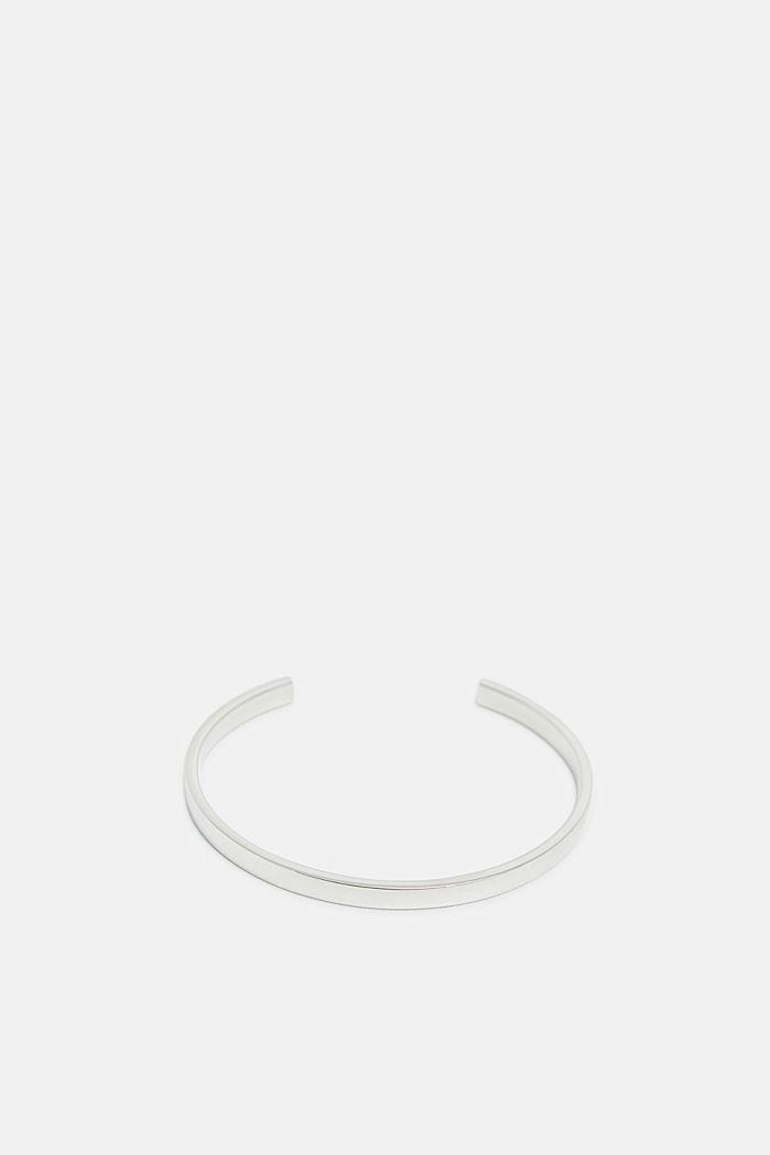 Open armband van edelstaal, SILVER, detail image number 0