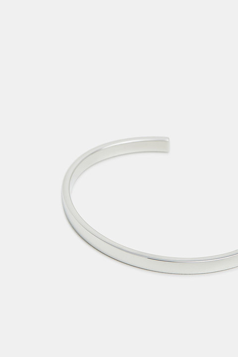 Open bangle made of stainless steel
