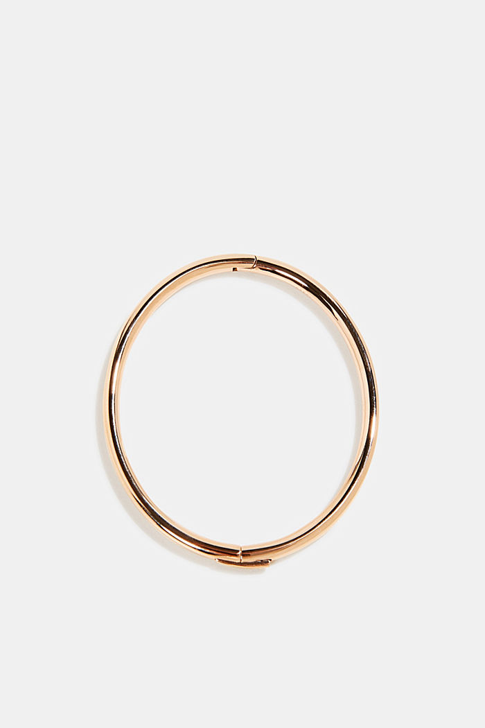 Gold-plated bangle made of stainless steel, ROSEGOLD, detail image number 0