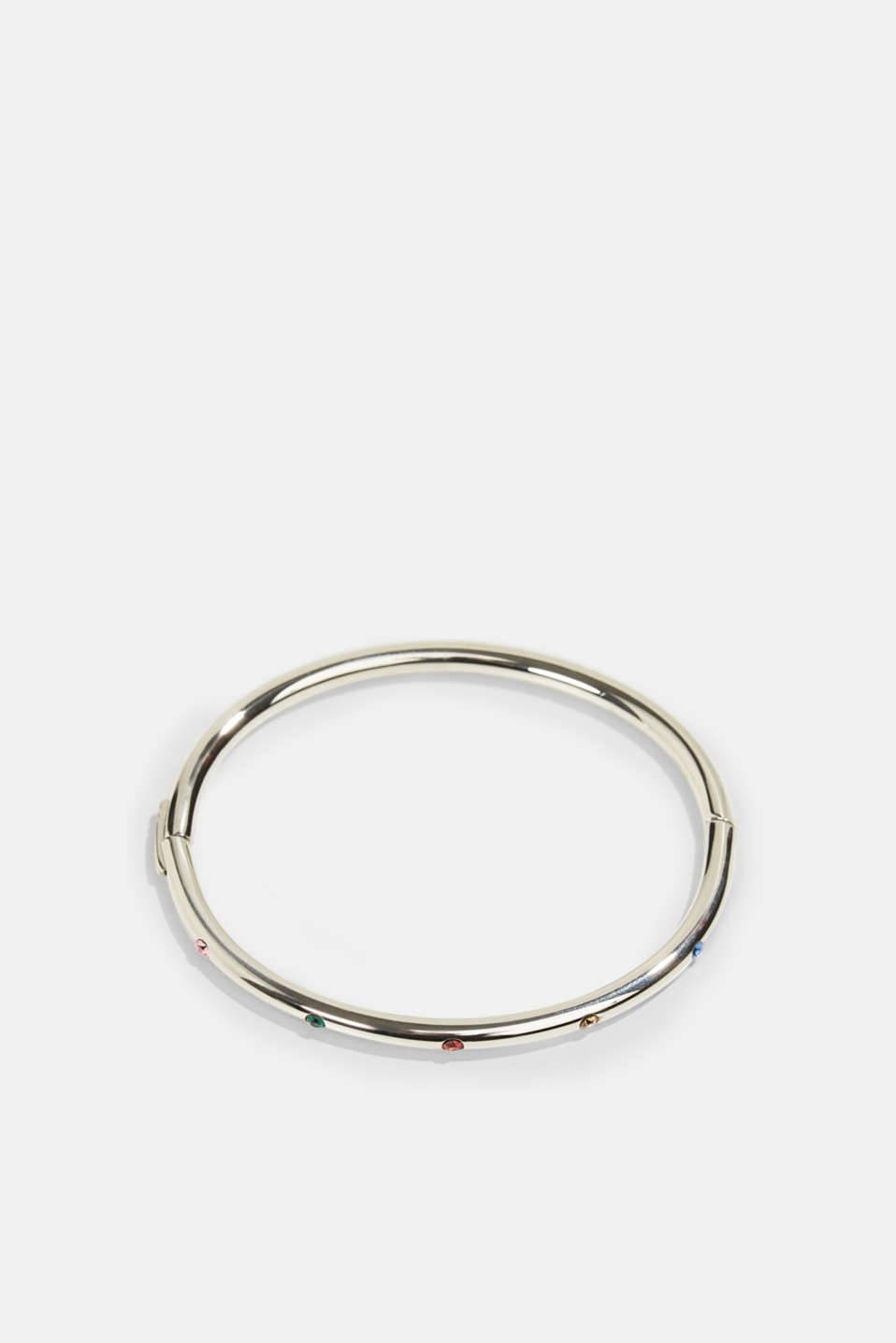 Esprit - Stainless-steel bangle trimmed with colourful zirconia