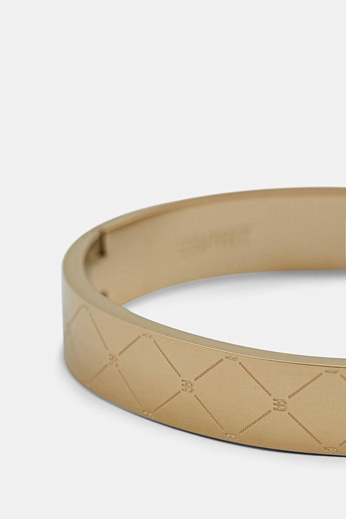 Armband van edelstaal met monogram, GOLD, detail image number 1