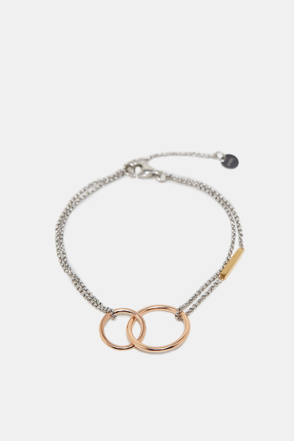Esprit - Stainless steel link chain bracelet with rings
