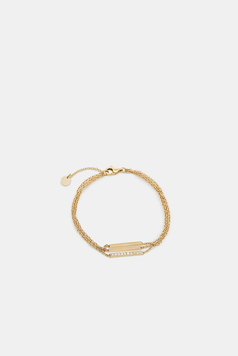 The timeless design makes this multi-strand bracelet made of stainless steel the perfect everyday accessory.