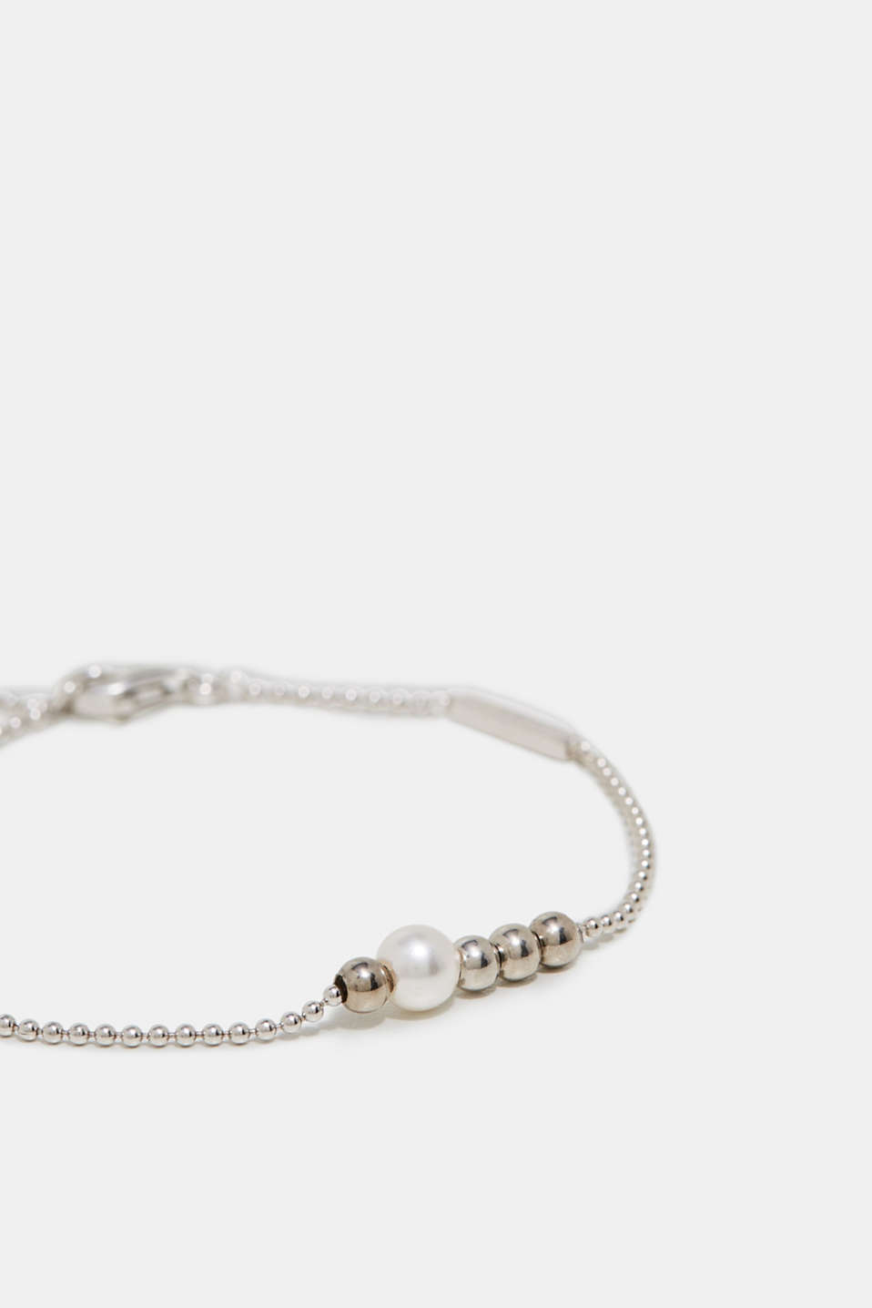 Fine bracelet in sterling silver, one colour, detail image number 1