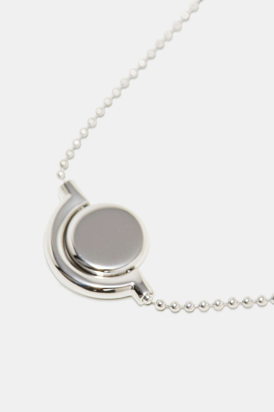 Stainless steel bracelet with a rotating pendant