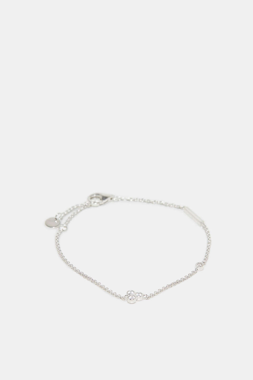 Bracelet with zirconia, made of silver, one colour, detail image number 0