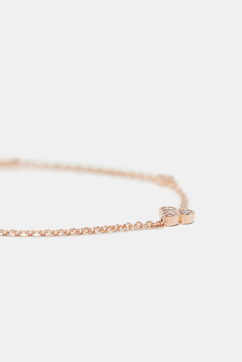 Bracelet with zirconia, made of silver, one colour, detail image number 1