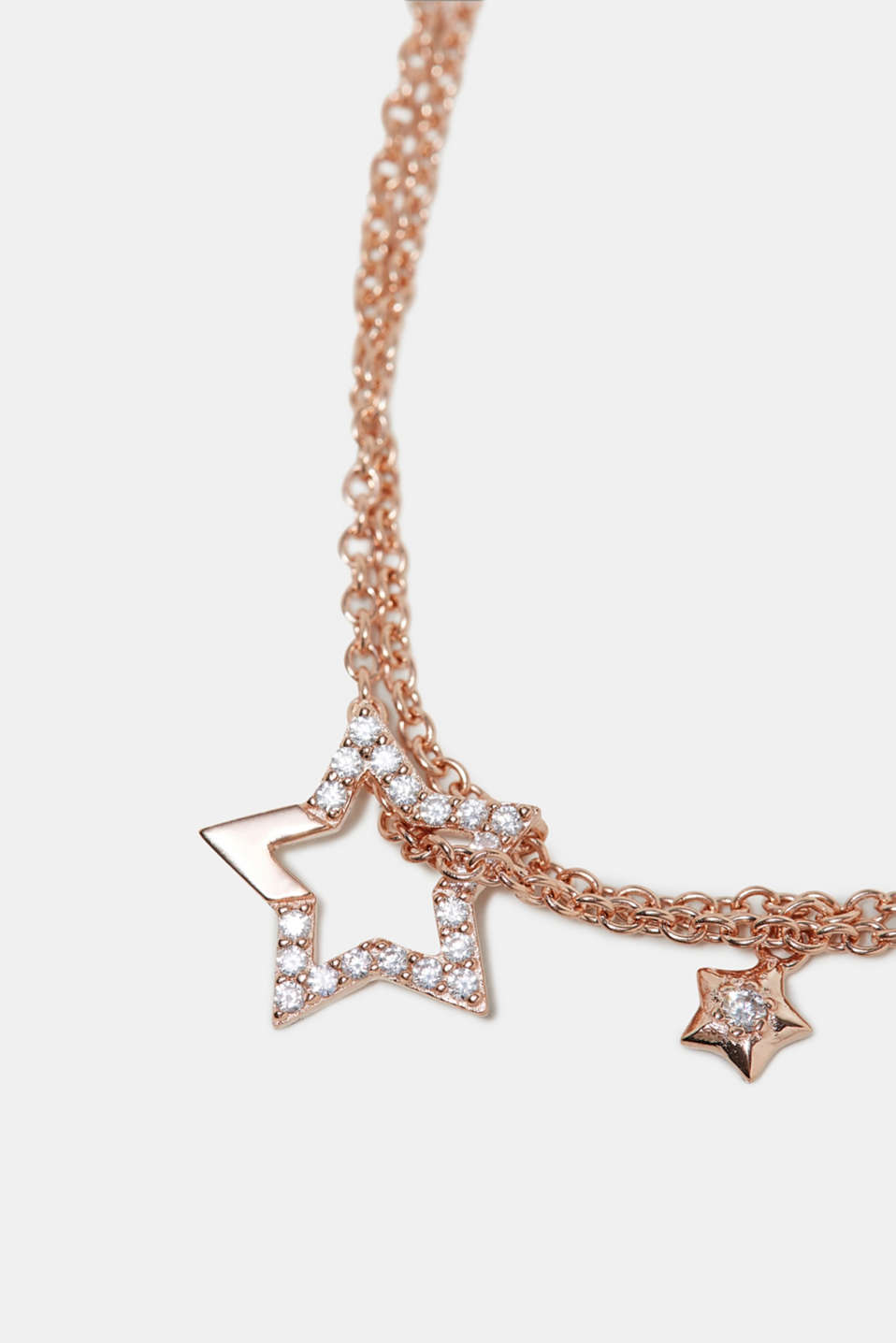 Bracelet with a star pendant, sterling silver, one colour, detail image number 1