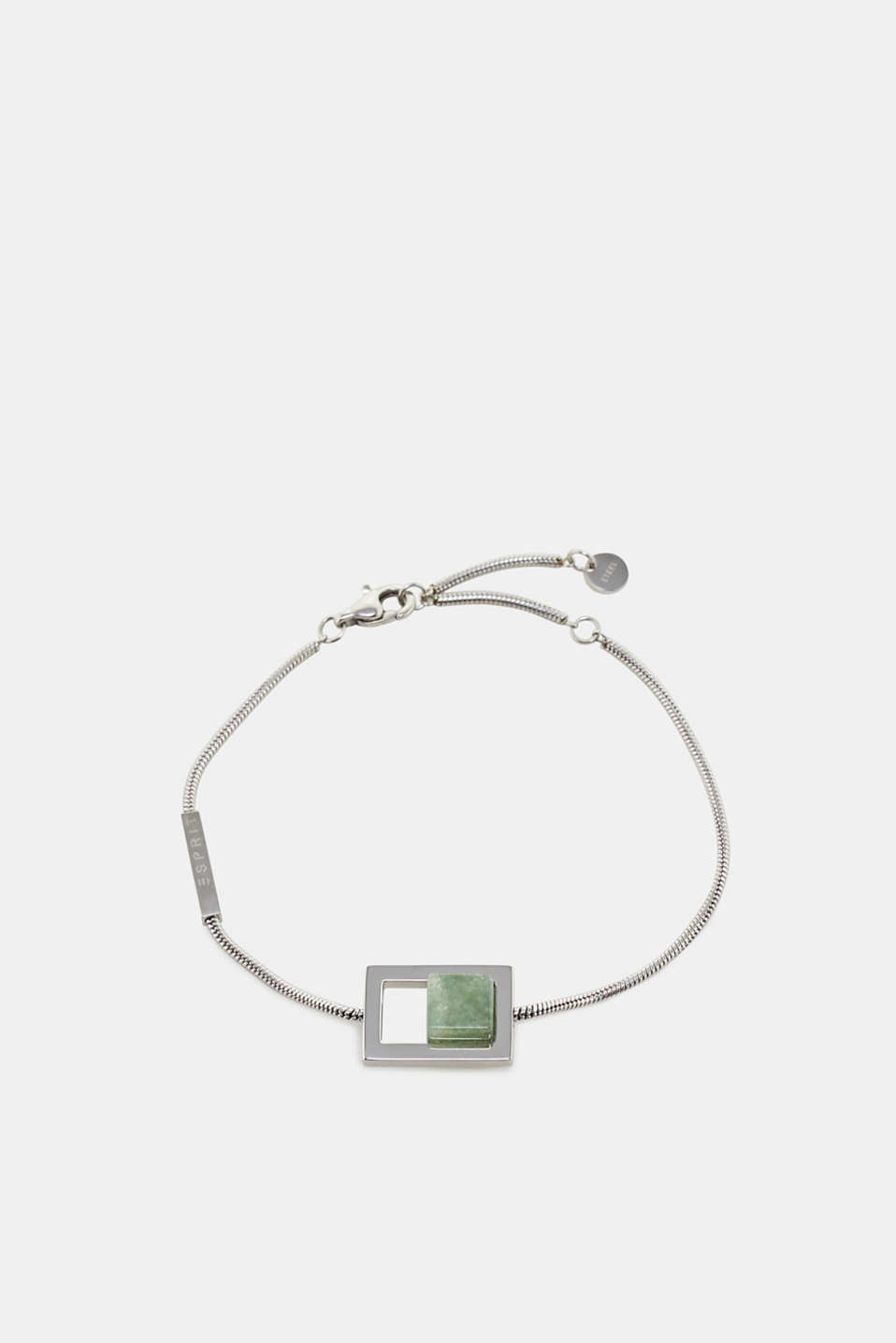 Esprit - Stainless steel bracelet with artificial jade gemstone