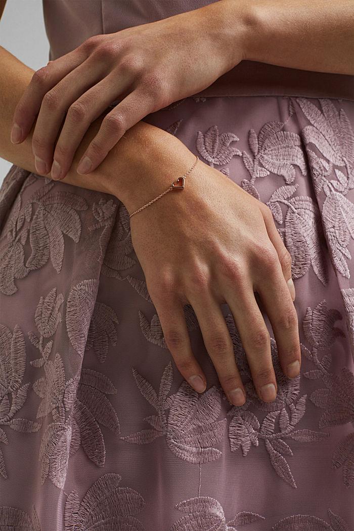 Bracelet à pendentif cœur, argent sterling