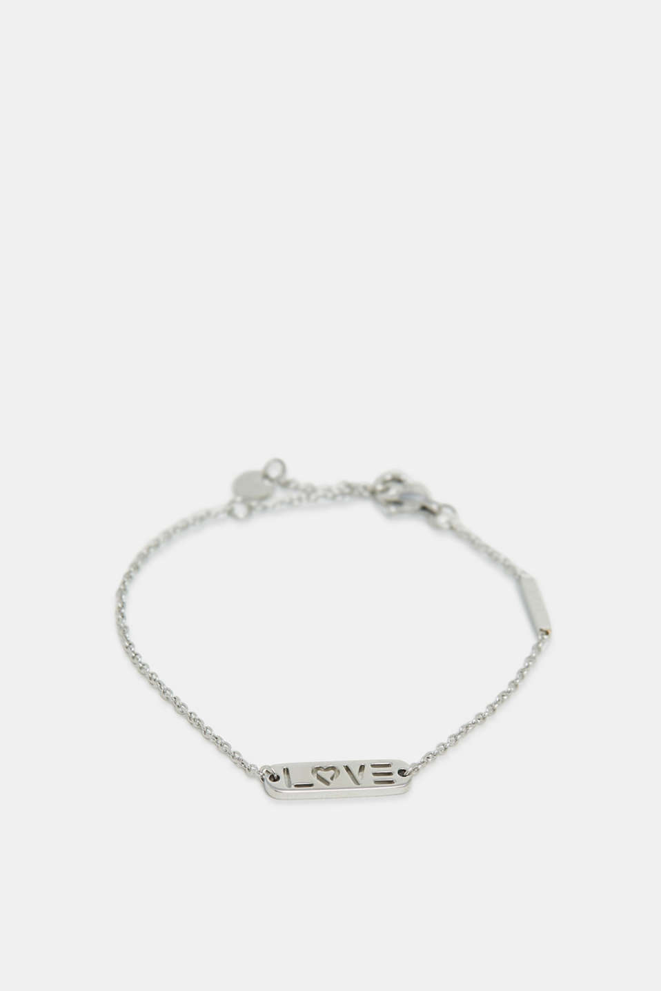 Esprit - Stainless-steel bracelet with a LOVE charm