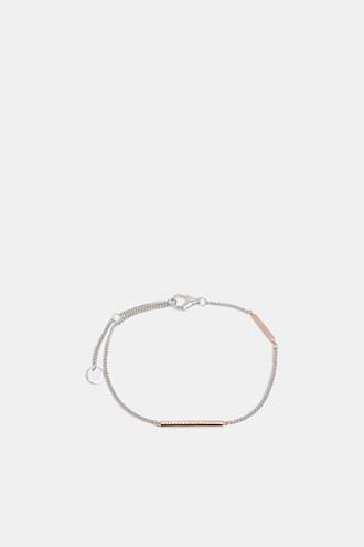 Fine link bracelet in sterling silver