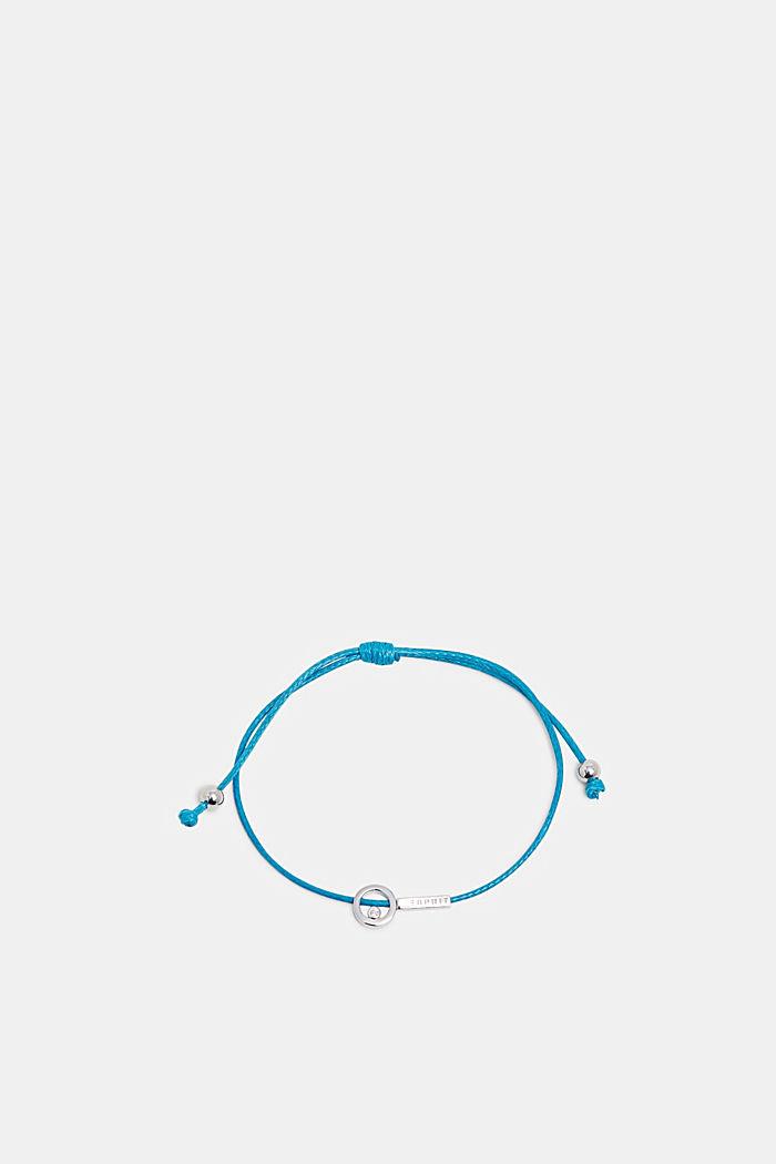 Bracelet with pendants in sterling silver, BLUE, detail image number 0