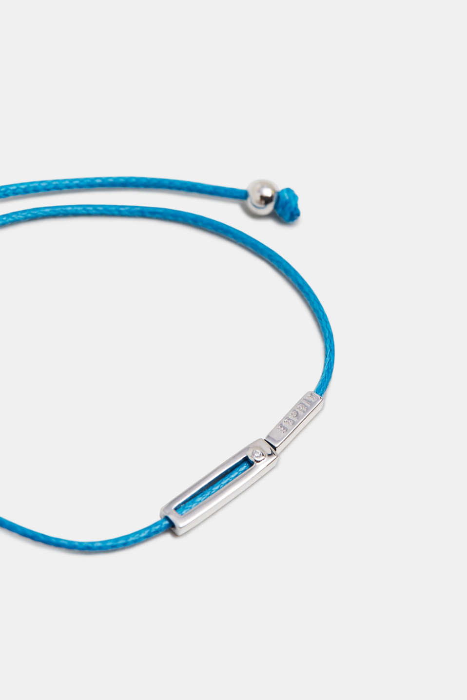 Bracelet with pendants in sterling silver, BLUE, detail image number 1