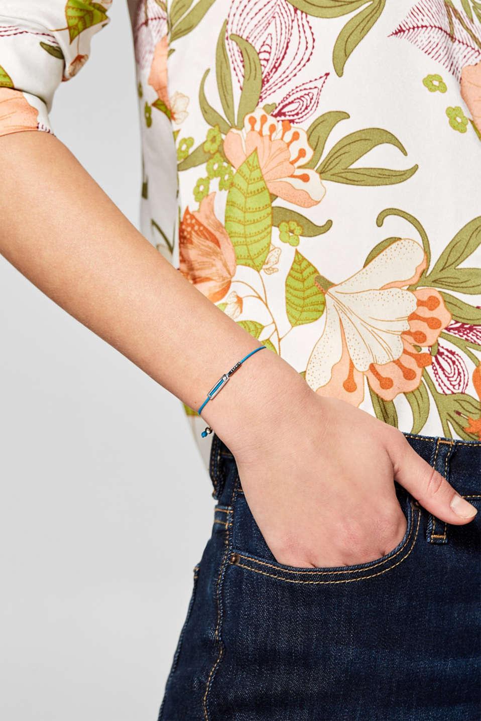 Bracelet with pendants in sterling silver, BLUE, detail image number 2