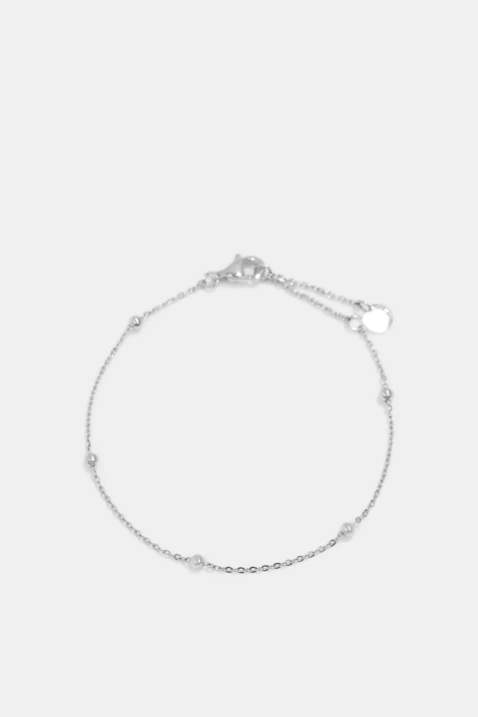 Delicate stainless steel bracelet, SILVER, detail image number 0