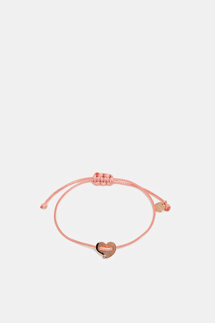 Armband mit Herz-Anhänger, Sterling Silber, PINK, detail image number 0