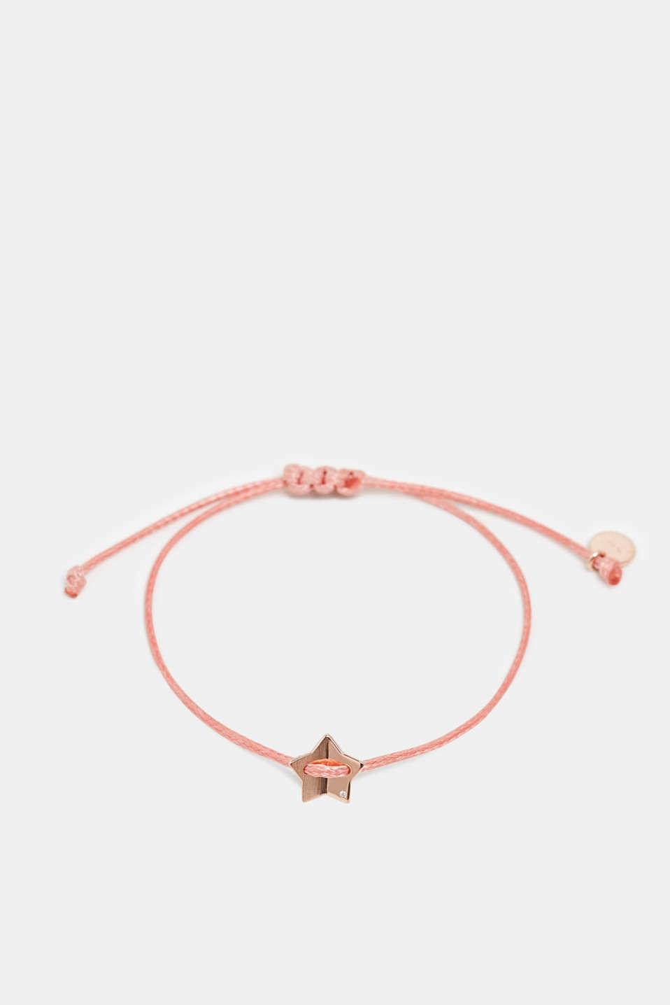 Textile bracelet with star pendants, ROSE, detail image number 0