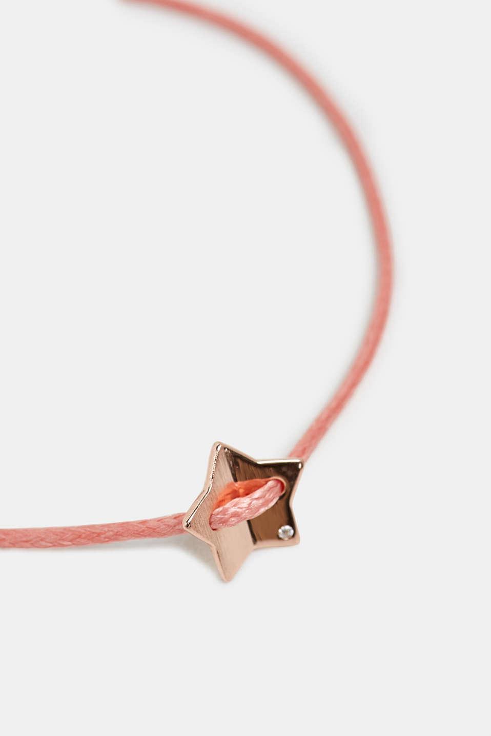 Textile bracelet with star pendants, ROSE, detail image number 1