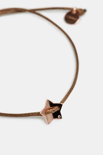 Textile bracelet with star pendants