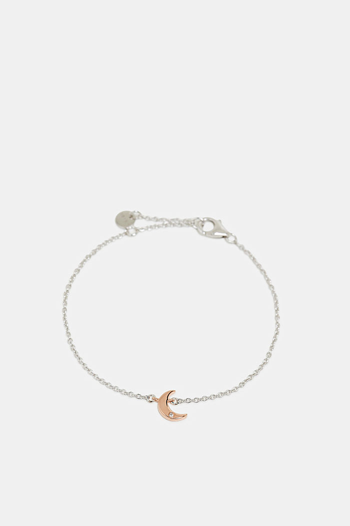 Armband met zirkoniahanger, sterlingzilver, SILVER, detail image number 1