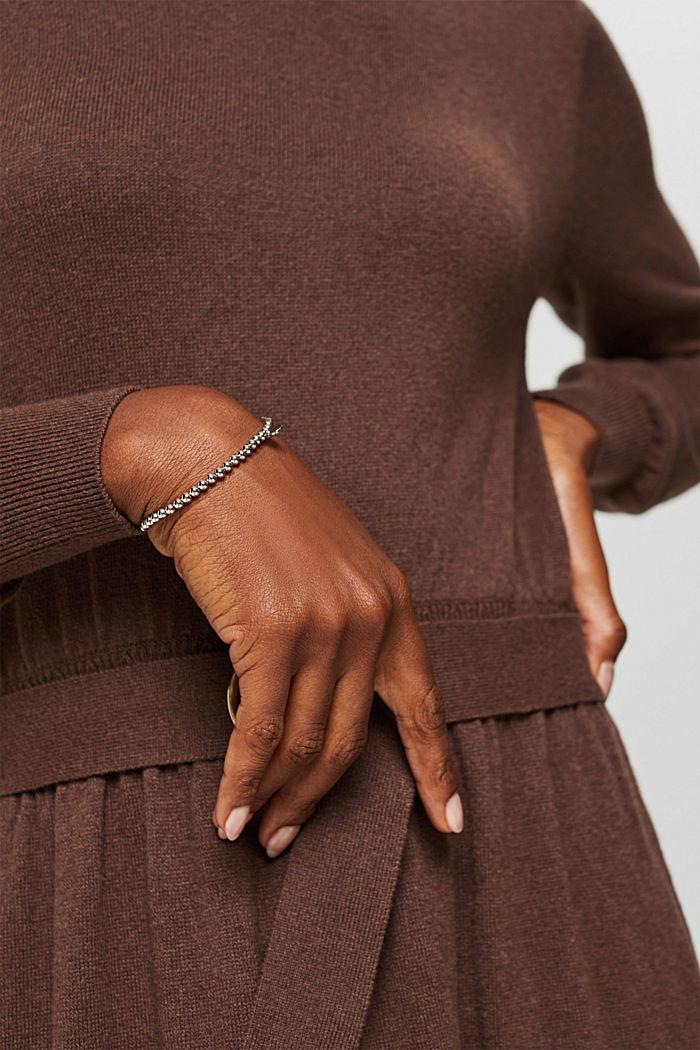 Bracciale elastico in ottone con zircone