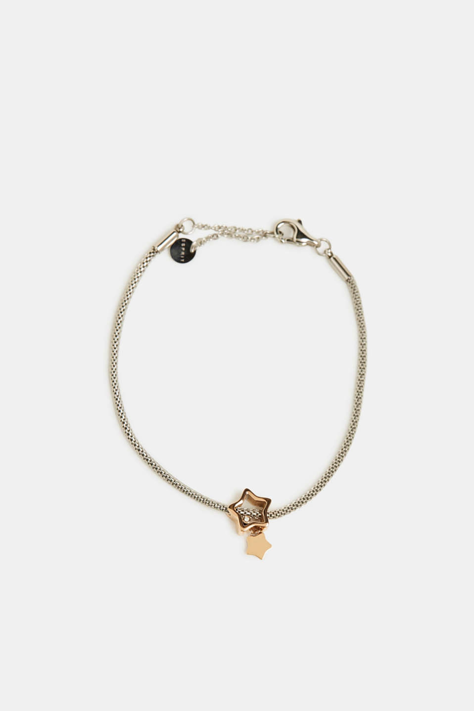 Esprit - Bracelet with zirconia charm, stainless steel