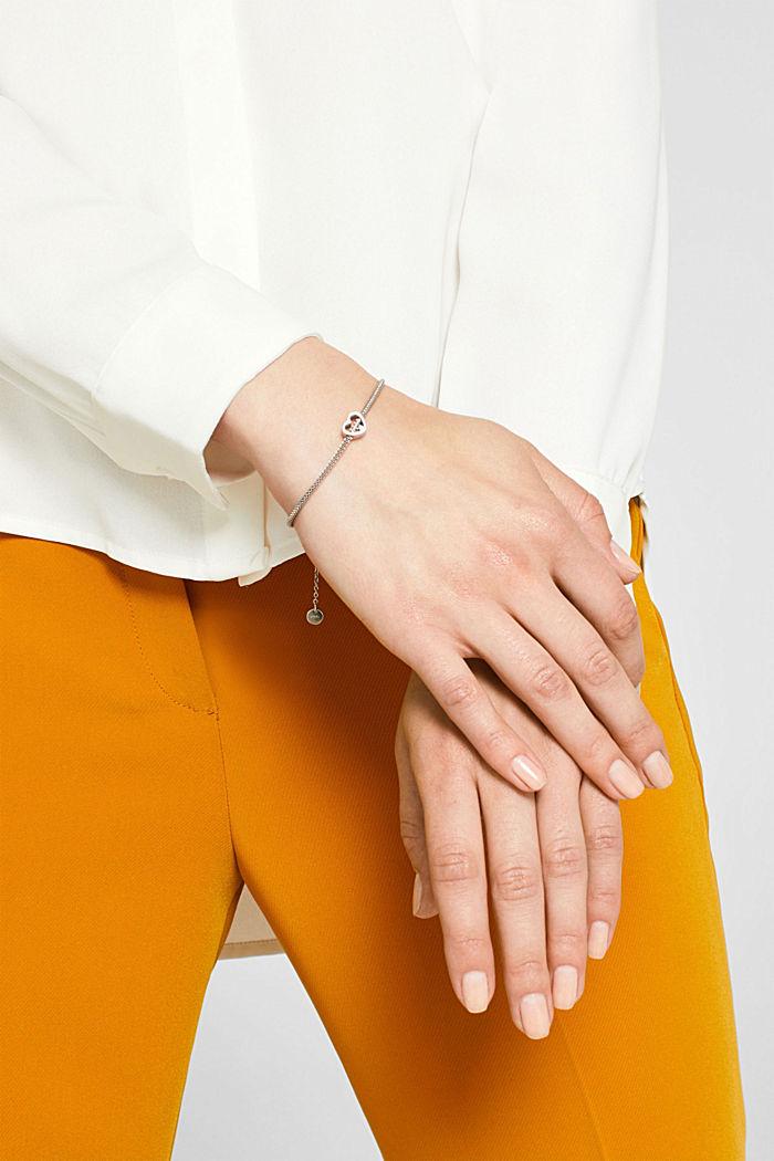 Armband mit Herz-Anhänger, Edelstahl