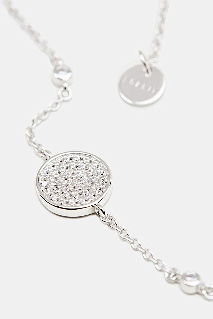Bracelet à pendentif en zircone, argent sterling