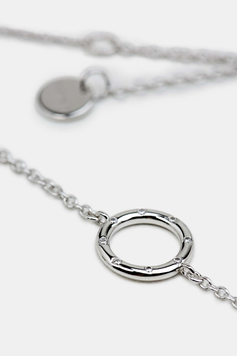 Bracelet with zirconia, sterling silver, LCSILVER, detail image number 1