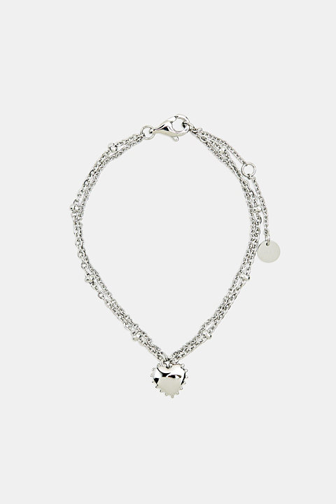 Bracelet with charm, stainless steel