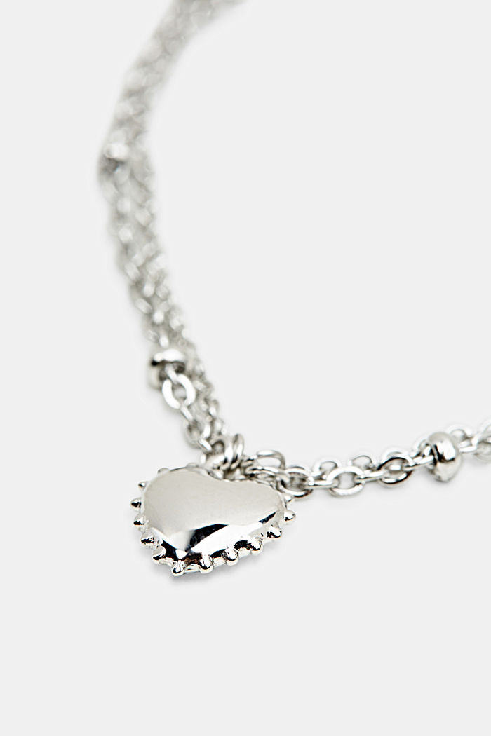 Bracelet with charm, stainless steel, SILVER, detail image number 1