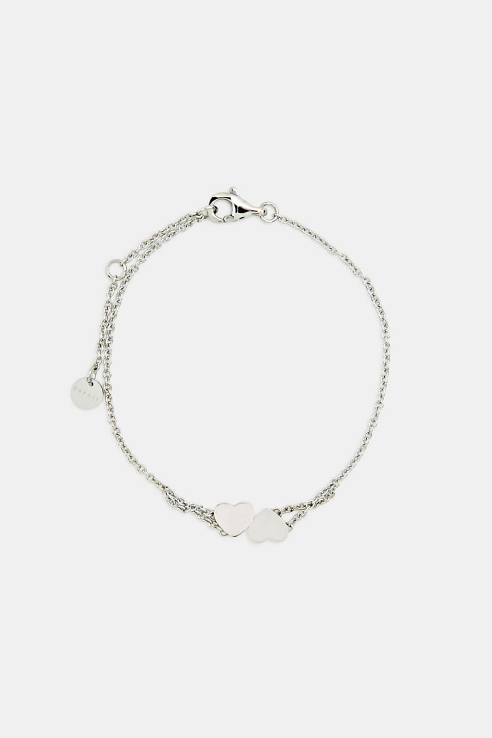 Bracelet with heart charm, stainless steel, LCROSEGOLD BICOL, detail image number 0