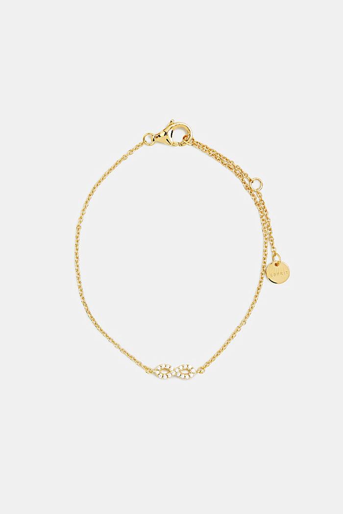 Armband met zirkonia, sterlingzilver, GOLD, detail image number 0