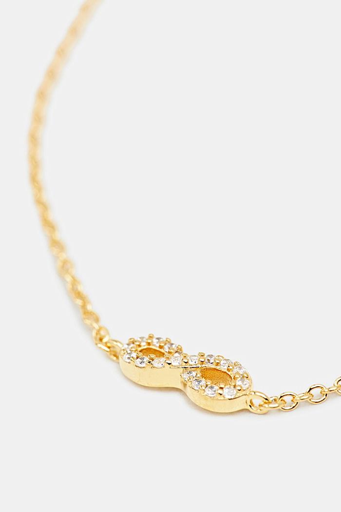 Armband met zirkonia, sterlingzilver, GOLD, detail image number 1
