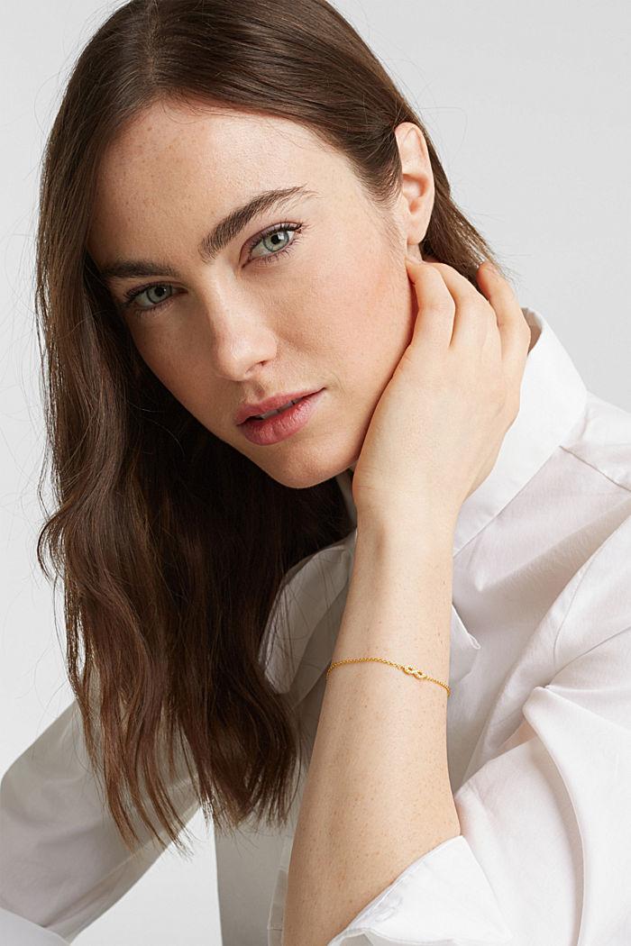 Armband met zirkonia, sterlingzilver, GOLD, detail image number 2