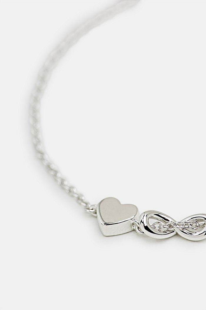 Bracelet with zirconia charm, sterling silver, SILVER, detail image number 1
