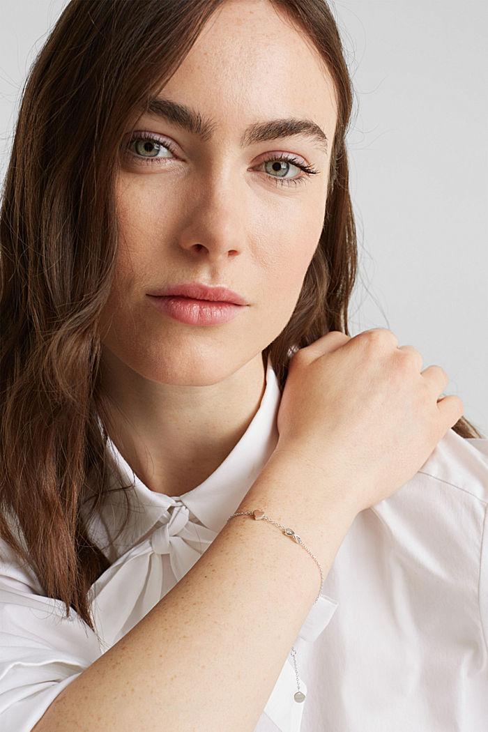 Bracelet à pendentifs, argent sterling