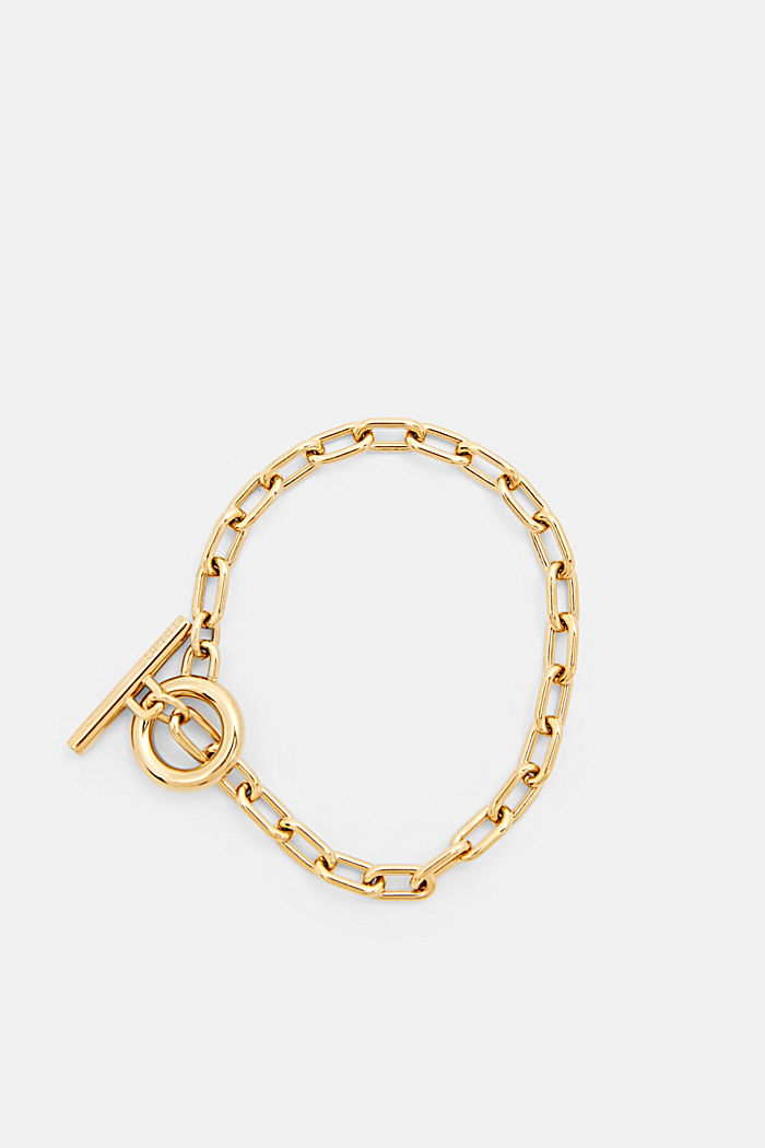Gold-plated link bracelet made of stainless steel