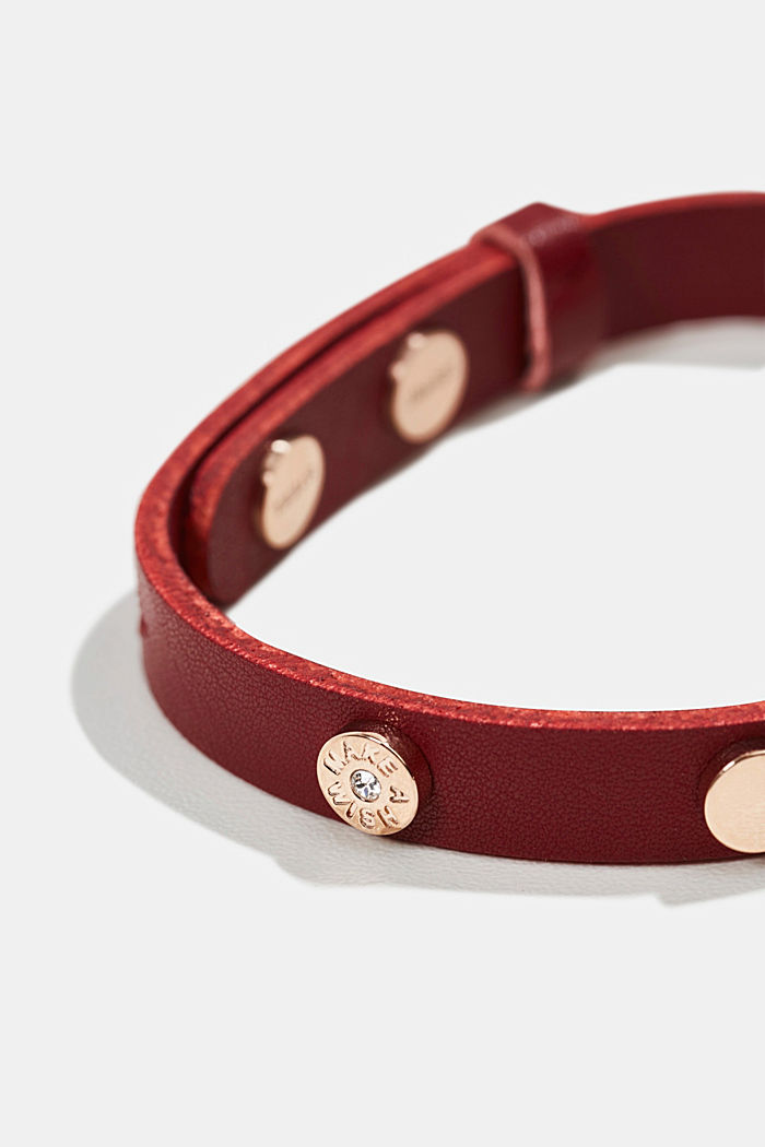 Bracelet with stainless steel and zirconia, ROSEGOLD, detail image number 1