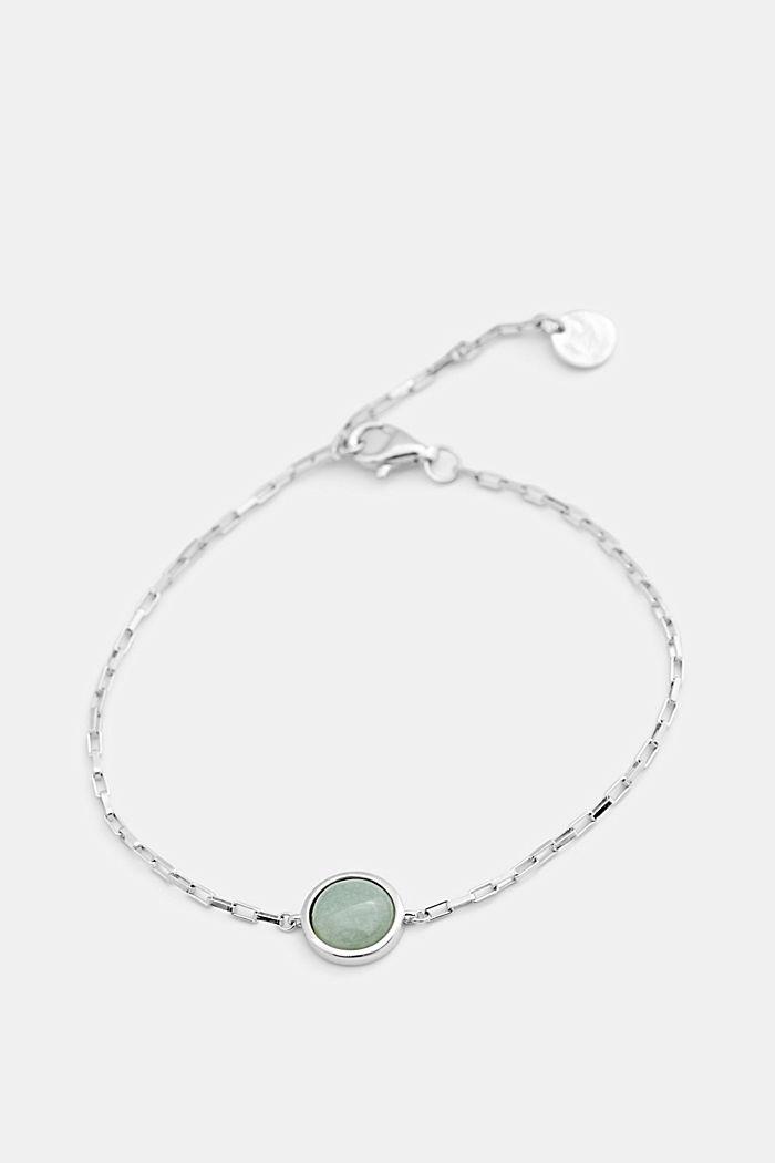 Bracelet orné d'une pierre fantaisie, argent sterling, SILVER, detail image number 0