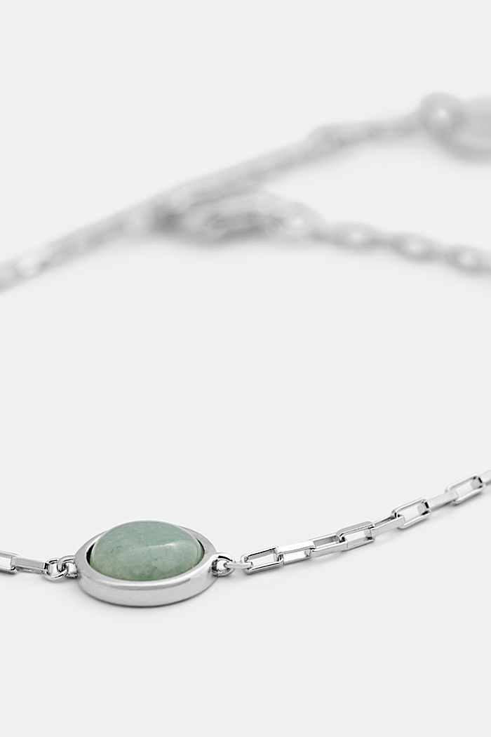 Bracelet with gemstone, sterling silver