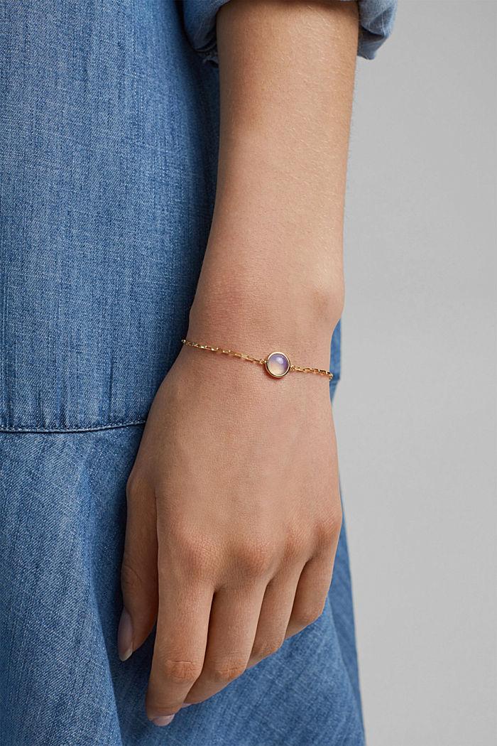 Bracelet with gemstone, sterling silver