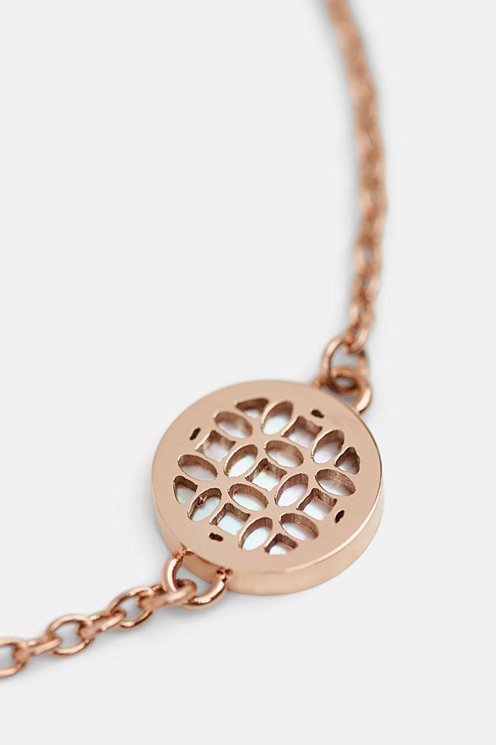 Bracelet en acier inoxydable à breloque en nacre, ROSEGOLD, detail image number 4