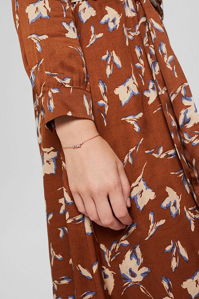 Bracelet en argent sterling serti de zircons