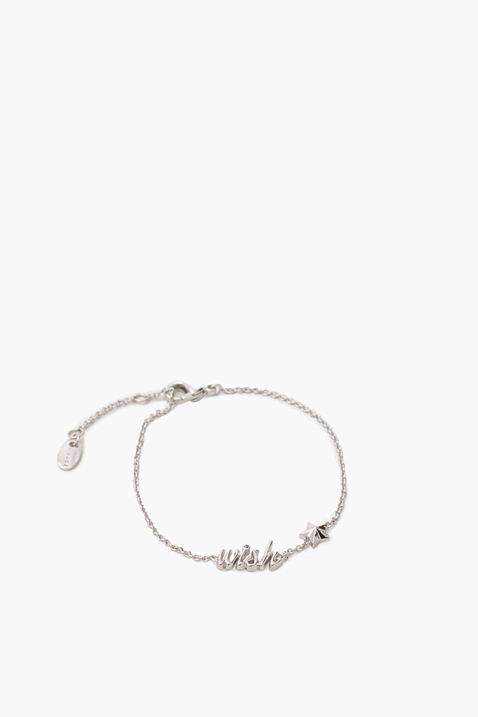 High-quality metal bracelet with wish and star charms, length approx. 160 mm