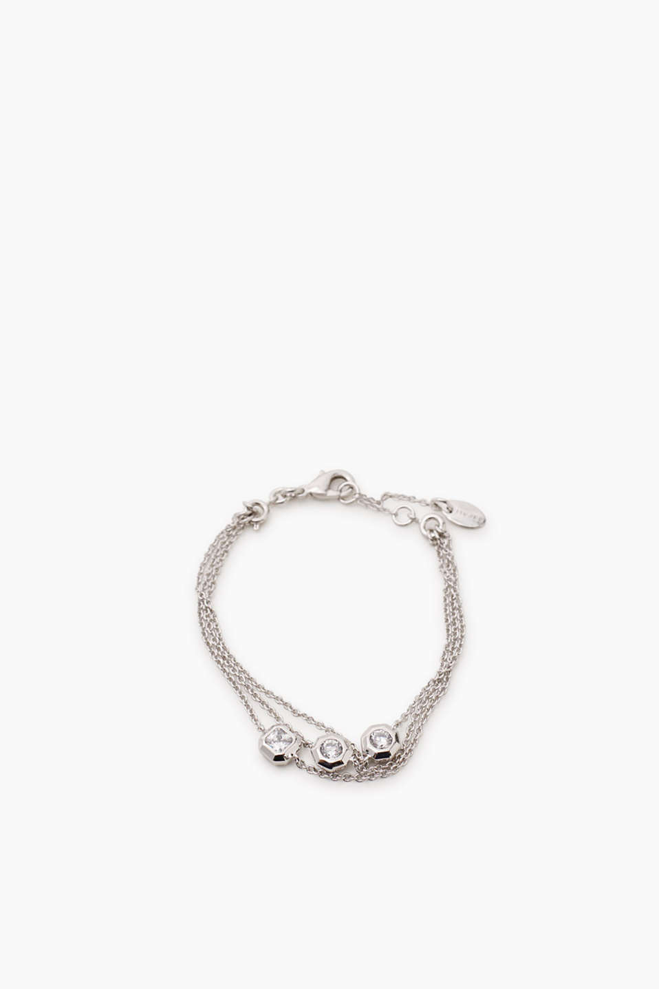 Esprit - Three-strand bracelet in metal / zirconia