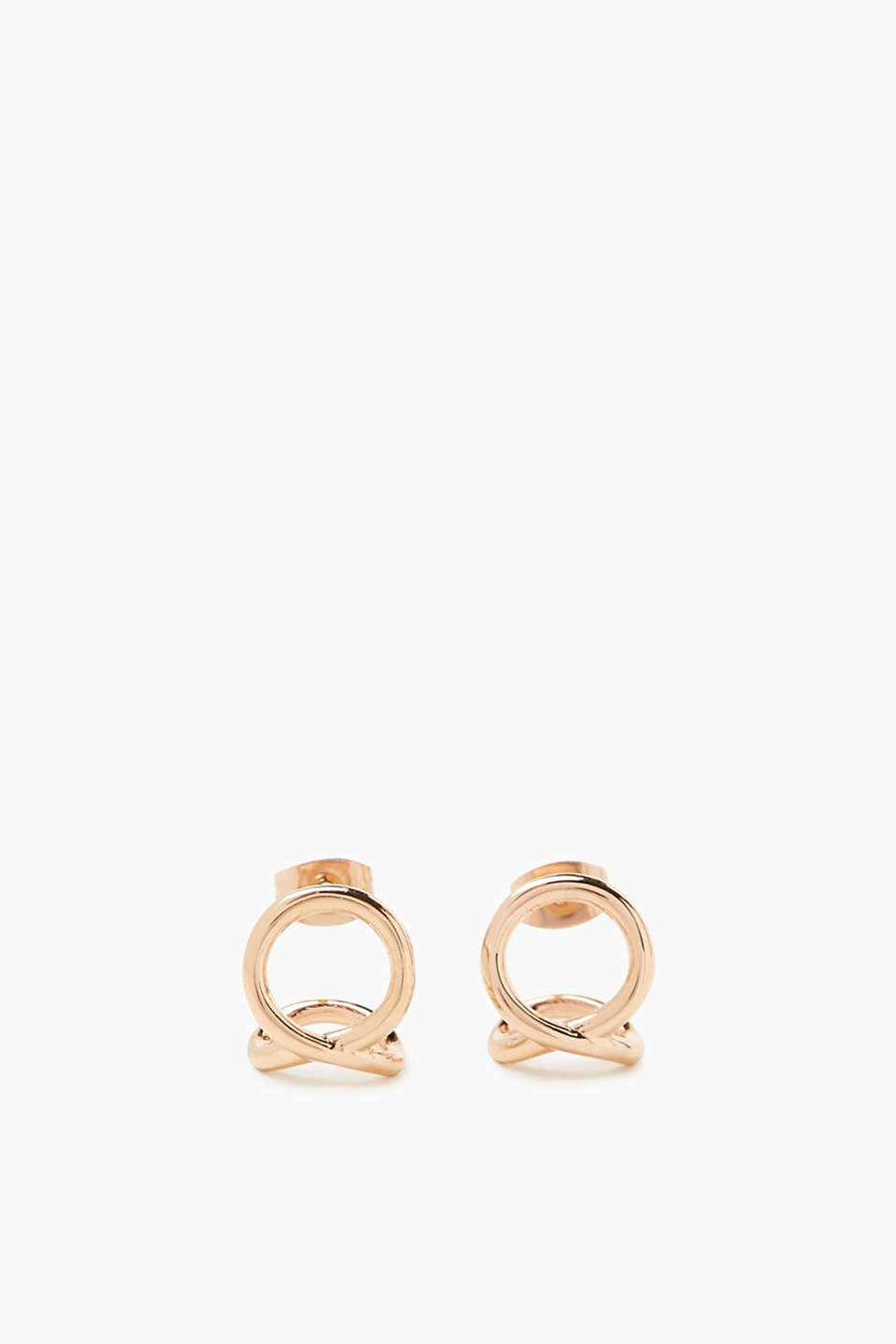 Esprit - Fine rose gold stainless steel stud earrings