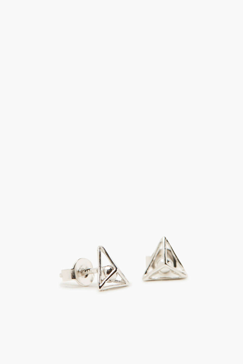 We love modern 3D design! These earrings in sterling silver are no exception.